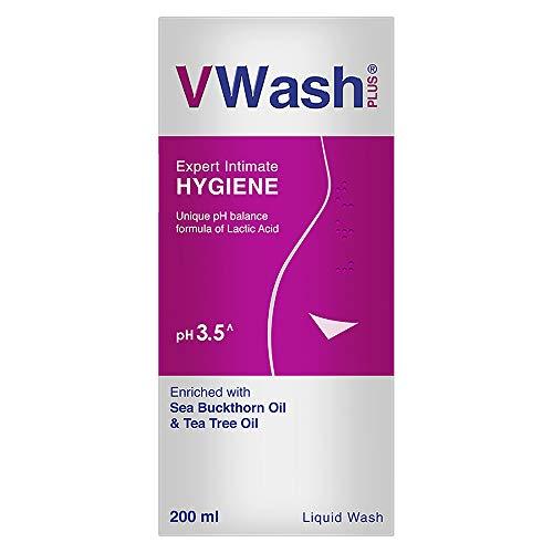 VWash Plus Expert Intimate Hygiene, With Tea Tree Oil, Liquid Wash Prevents Dryness, Itchiness And Irritation, Balances PH, Paraben Free, 200 ml