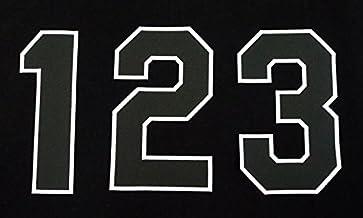 【プロ野球 阪神タイガースグッズ】背番号ワッペン(現行版・黒地白縁)種類:2