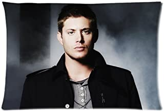 Supernatural Dean Winchester Pillowcase Custom Throw Pillow cover 16x24 Zippered Pillow Case Two Sides Picture Printed Soft Cotton Comfortable