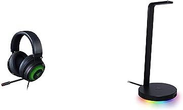 Razer Pacchetto composto da Kraken Ultimate Cuffie On-Ear da Gioco USB per PC e Base Station V2 Chroma Supporto Cuffie e H...