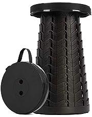 SPLENDOLE Reis-klapkruk, lichte campingkruk, telescopische kruk, draagbare klapstoel, klapkruk, uittrekstoel (zwart)