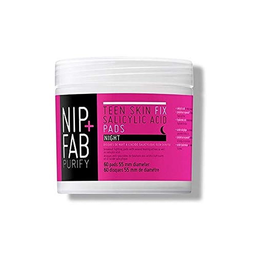 バリケードお手伝いさんつかいます[Nip & Fab ] + Fab十代の肌サリチル酸夜用パッド80ミリリットルニップ - Nip+Fab Teen Skin Salicylic Acid Night Pads 80ml [並行輸入品]