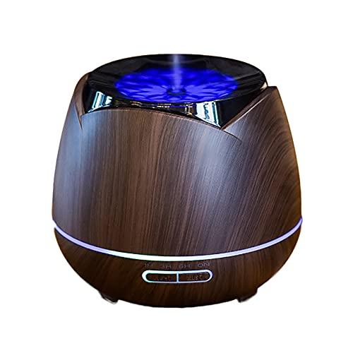 Humidificador Ultrasónico de Niebla Fría de 400 Ml, Difusor de Aceite Esencial, Ajuste del Temporizador, Apagado Automático Sin Agua para Yoga, Salón, SPA, Oficina, Dormitorio