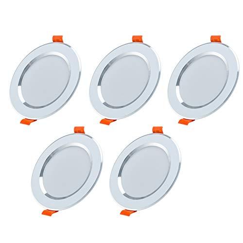 Preisvergleich Produktbild Yafido 5er LED Einbauleuchten Ultra flach Spots 5W 230V 500lm 6000K Kaltweiß mit LED-Treiber Nicht dimmbar