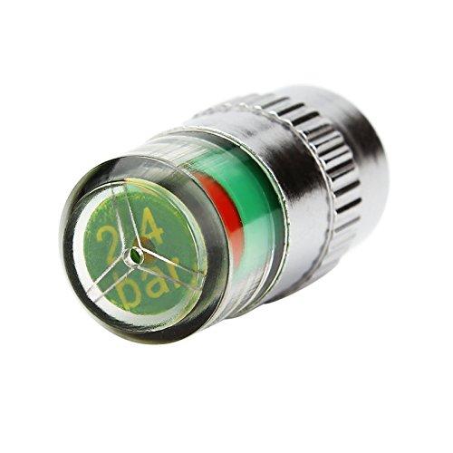 Juego de 4 tapas de válvula de neumático de coche, indicador de presión de neumáticos.