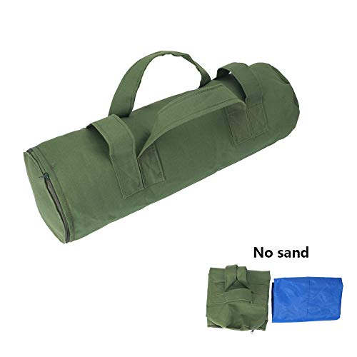 CHENGYI Heavy Duty Workout Sandbags for Fitness,Functional Fitness, Cross-training Exercise & Crossfit with Adjustable Weights CYTN01 (Army Green)