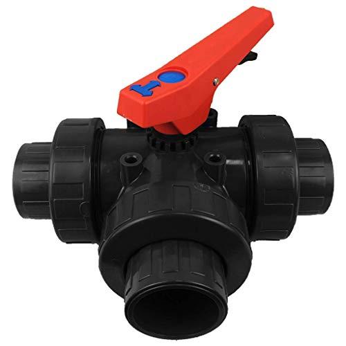 well2wellness® PVC-Kugelhahn 3-Wege Klebeanschluss mit T-Bohrung 50mm - 16 Stellpositionen