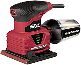 SKIL 7292-02 2.0 Amp 1/4 Sheet Palm Sander with Pressure Control , Red