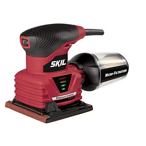 SKIL 7292-02 2.0 Amp 1/4 Sheet Palm Sander with Pressure Control , R