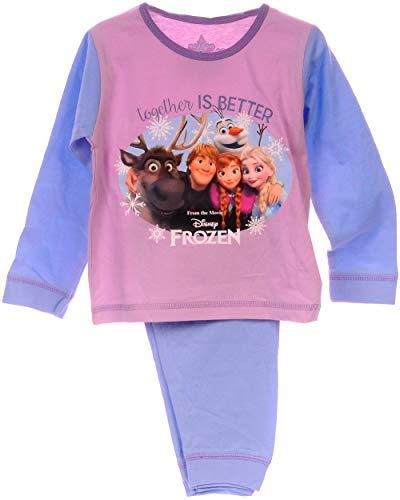 Schlafanzug Kinder Pyjama Hose Shirt Frozen Disney Eiskönigin Anzug Anna & ELSA (4/5-104/110)