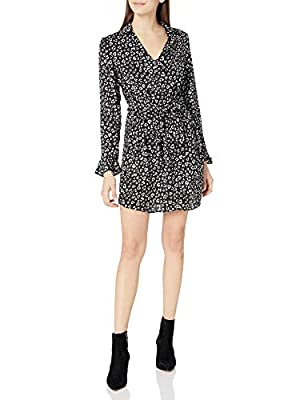 Jack by BB Dakota Women's Cat's All Folks Leopard Shirtdress, Black, Small
