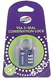 American Tourister TSA 3 Dial Combination Blue Luggage Lock