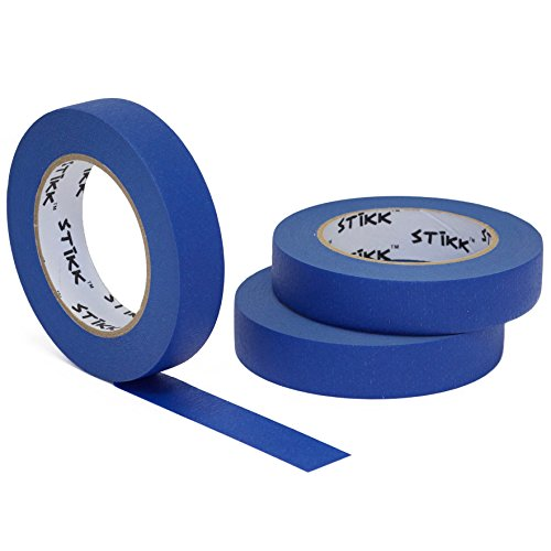 3 Pack 1' x 60 Yard STIKK Blue Painters Tape 14 Day...