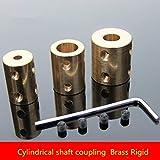 Ochoos 1PCS SC004 Inner Diameter 5-10MM Copper Rigid Cylindrical Coupling Motor Parts Brass Shaft Sleeve Coupling DIY Motor Fittings - (Inner Diameter: 10mm to 10mm)