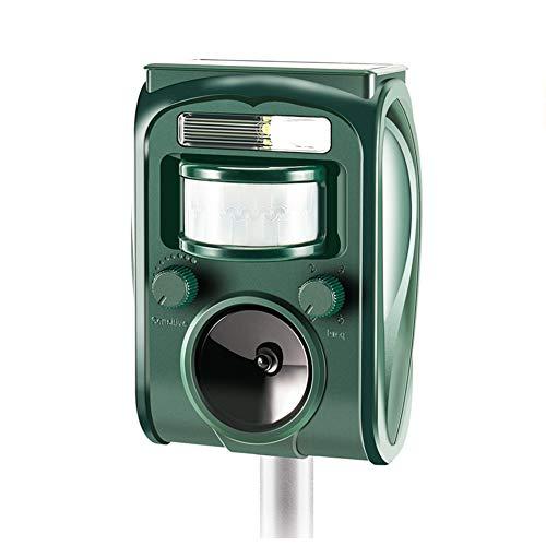 zonpor Repellente per Gatti, Ultrasuoni Repellente Gatti Solare repeller Impermeabile per Piccioni, Uccelli, Cani, Gatti, Topi, 5 Modalità