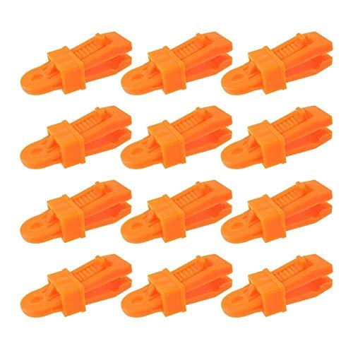 PYSDWE Exterior Clips de Lona de Servicio Pesado 12 Piezas, Abrazaderas de toldos Multiusos establecen un Bloqueo Fuerte para Lonas, caravanas, Cortinas de jardín, (Color : Orange)
