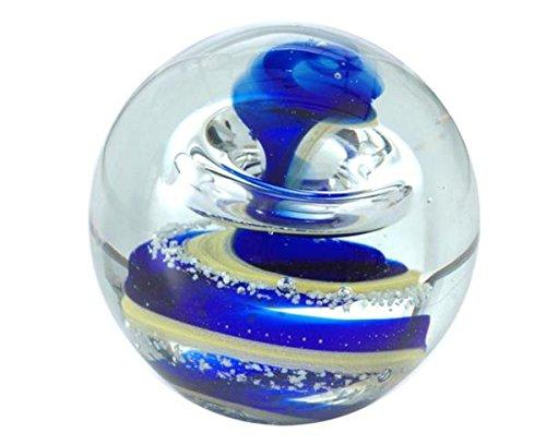 Traum-Kugel medium, blau-gelbe Spirale-Nachtleuchtend