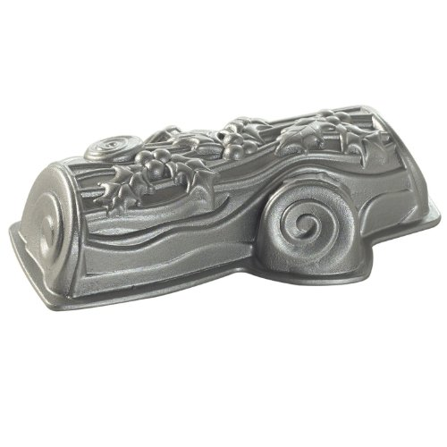 NordicWare Motivbackform, Backform Baumstamm, Weihnachtskuchen, Aluminium, Silber, 35,4 x 21,6 x 8,3 cm