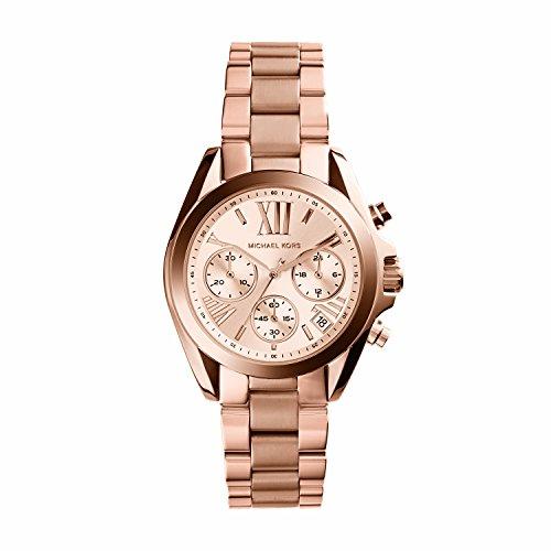Michael Kors Damen Chronograph Quarz Uhr mit Edelstahl Armband MK5799