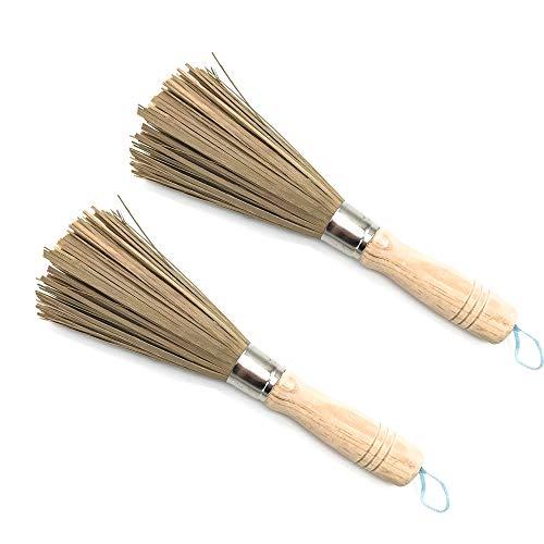 Schneespitze Bambus Langen Griff Reinigung,Reinigungsbesen Wok Brush Bamboo Pfannen Saubere Bürste Bambus Langen Griff für HaushaltsküChen,Restaurants,ReinigungsgeräTe