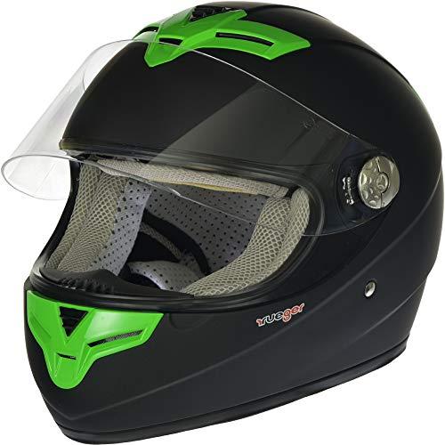 Farbe:Matt Schwarz RC-590 Jethelm Custom Motorradhelm Chopper Chopper Motorrad Roller Helm rueger Gr/ö/ße:M 57-58