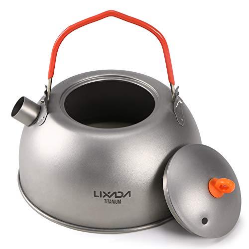 Lixa-da 600ml Titanium Teekessel zum Kochen von Wasser Kaffee Teekanne für Outdoor Camping Wandern Rucksack