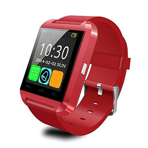 Reloj Inteligente U80 con cámara Fitness Podómetro Monitor de Sue?o Llamada SMS Rojo