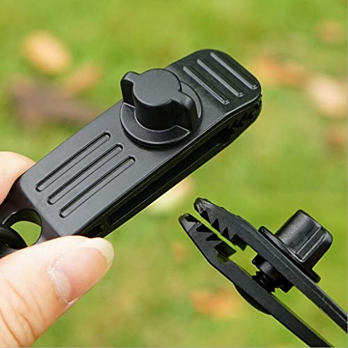 SNKSDGM Tarp Clips Heavy Duty Lock Grip,1 Pack Tarp Clamps Heavy Duty, Shark Tent Fasteners Clips Holder, Pool Awning Cover Bungee Cord Clip, Car Cover Clamp, Fit for Outdoor Camping Caravan Canopies
