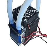 WOSOSYEYO Peltier termoeléctricas Neveras 12V 576W 4-Chip TEC1-12706 Bricolaje refrigeración de Aire de refrigeración del Dispositivo refrigerador termoeléctrico (Negro)