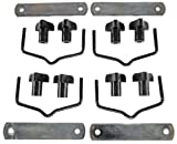 JEGS Replacement Hardware for JEGSport Cargo Carriers | JEGS Brand Part Numbers 555-90098/555-90097 | Includes 4 Mounting Brackets, 8 Threaded Knobs, 4 Mounting Plates, And 4 Clip Hooks