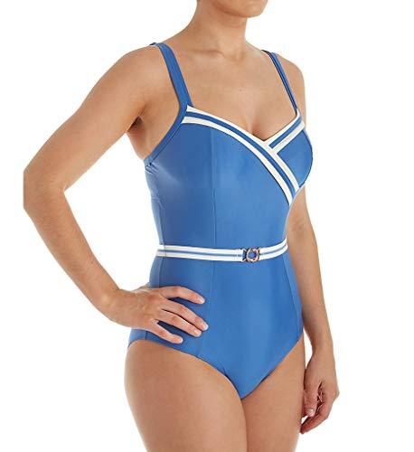 Panache Women's Portofino Balconnet One Piece Swimsuit SW1210 32FF Denim/Ivory