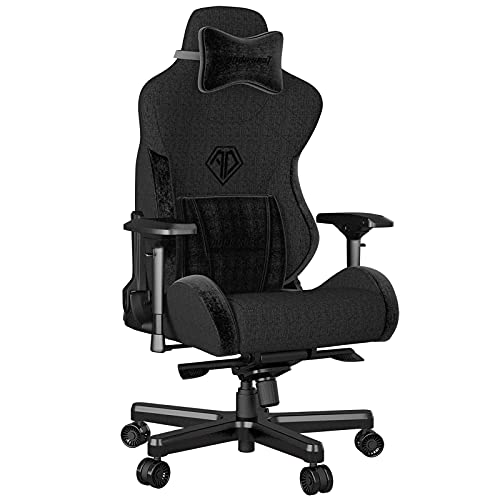 Gaming Chair,andaseaT T-Pro II Ergonomic Racing Computer Game Chair Adjustable Armrest Swivel Rocker Recliner Office Chair with High-end Leather,Headrest and Lumbar Pillow E-Sports Chair-Black