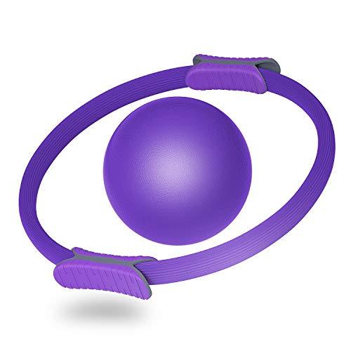 Topteam, anello per pilates con anello magico per allenamento di resistenza, per yoga, allenamento con palla da pilates per tonificare e scolpire le cosce interne esterne