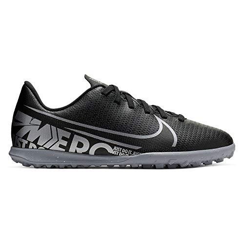 Nike JR Vapor 13 Club TF, Botas de fútbol Unisex Adulto, Multicolor (Black/Mtlc Cool Grey/Cool Grey 1), 38.5 EU