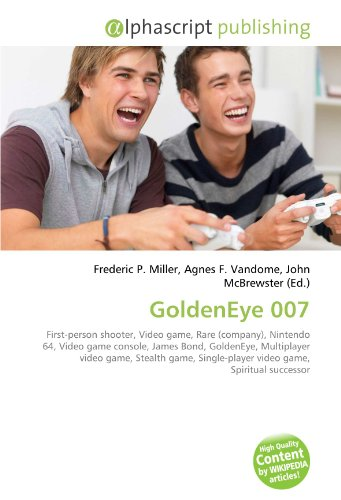 GoldenEye 007: First-person shooter, Video game, Rare (company), Nintendo 64, Video game console, James Bond, GoldenEye, Multiplayer video game, ... Single-player video game, Spiritual successor