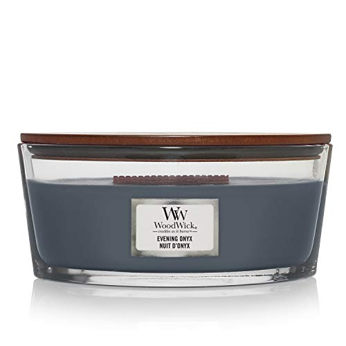 Woodwick Ellipse Scented Candle with Crackling Wick | Evening Onyx | Up to 50 Hours Burn Time