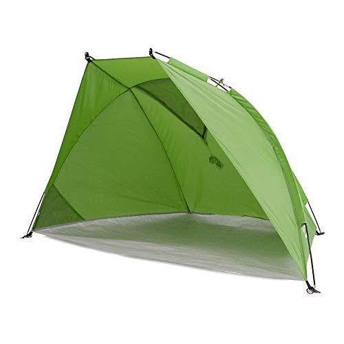 outdoorer Strandmuschel Helios Air - Reise-Strandmuschel mit UV Schutz 80 & verschließbarem Fenster, Strandzelt für Reisen (grün)