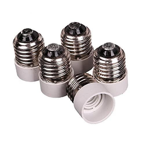 Runfon Vite da Medio a bulbo Intermedio Luce Base dello Zoccolo del convertitore dell'adattatore Riduttore 5 Pz E27 Adattatore Socket E14