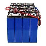 LONGRING Batterie LiFePO4 4PCS 3.2V 100AH + BMS 4S 12V 100AH BT Lithium Fer Phosphate Alimentation de Remplacement pour RV Solar Marine & Applications Hors réseau EU US Tax Free,4PCS+BMS
