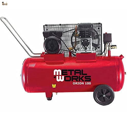 BricoLoco Compresor aire profesional portátil. 8 bares presión. 3 CV de potencia. Depósito 100 litros. ¡¡¡ TRANSMISIÓN...