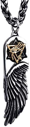 NC110 Necklace Eye Horus Wings Necklaces Pendants Titanium Steel Sweater Chain Length Section