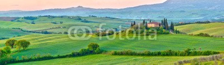AluminiumDibond image 70 x 20 cm   Tuscany at spring , image on a AluminiumDibond