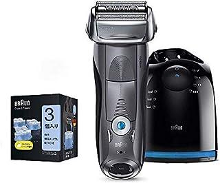 【セット販売】【Amazon.co.jp 限定】ブラウン メンズ電気シェーバー シリーズ7 7867cc 4カットシステム 洗浄機付 水洗い/お風呂剃り可 アルコール洗浄液3個付きセット