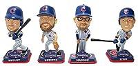 "FOCO MLB Chicago Cubs 2016 World Series Champions Mini Bighead Bobble (4 Pack), 3.5"""