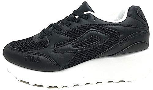 Fila Doroga Zeppa Black- Sneakers con Zeppa Donna-Scarpe da Ginnastica Fondo Alto (37)