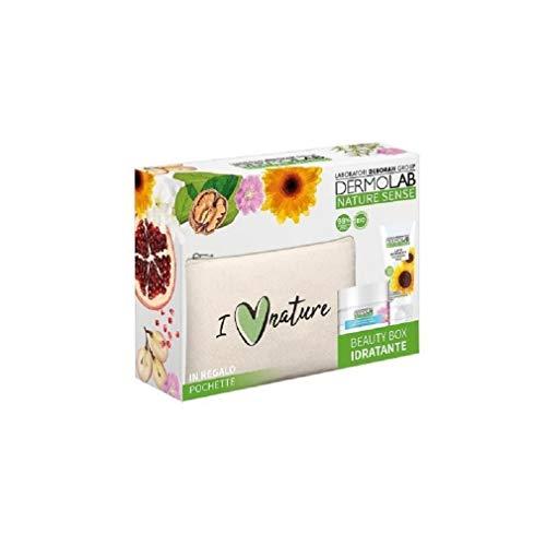 Deborah – Caja Beauty Box Nature Sense crema hidratante facial 50 ml + leche limpiadora facial 50 ml + bolsa regalo