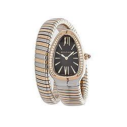 Serpenti Quartz (Battery) Violet Dial Watch with Rhinestones