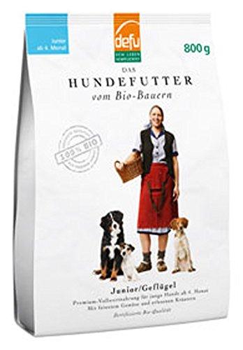 defu 2er-Set Bio Hundefutter Junior 800g