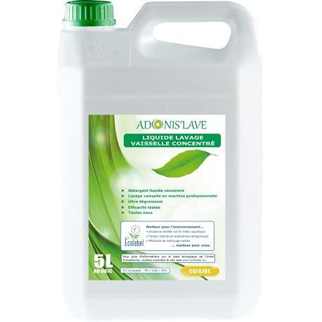 Geschirrspülmittel – Spülflüssigkeit – Spülmittel – Spülmittel – Konzentrat ökologisch – ADONIS' LAVE – Kanister mit 5 l
