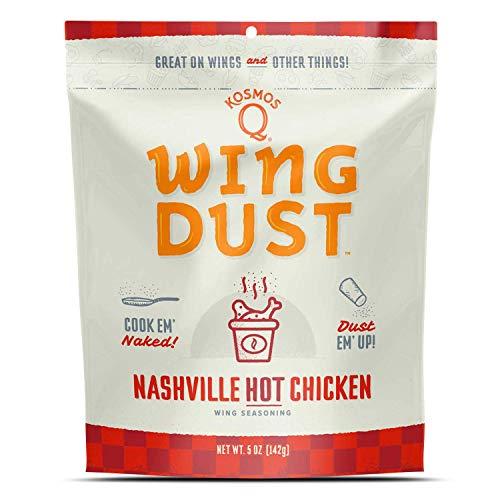 Kosmos Q Nashville Hot Wing Dust, Dry BBQ Rub Spice, 5 Ounces